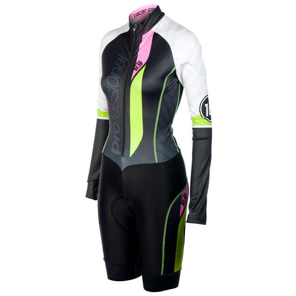 Prof Women Aerosuit Ls With Race Proven Shorts Lycra