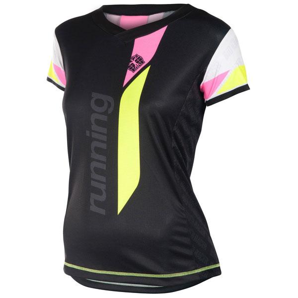Running Shirt V Short Sleeves Women