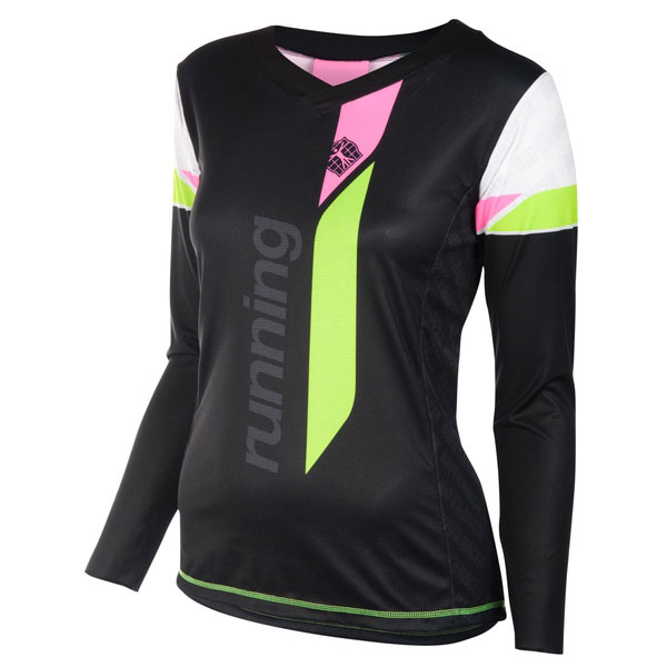 Running T Shirt V Long Sleeves Women